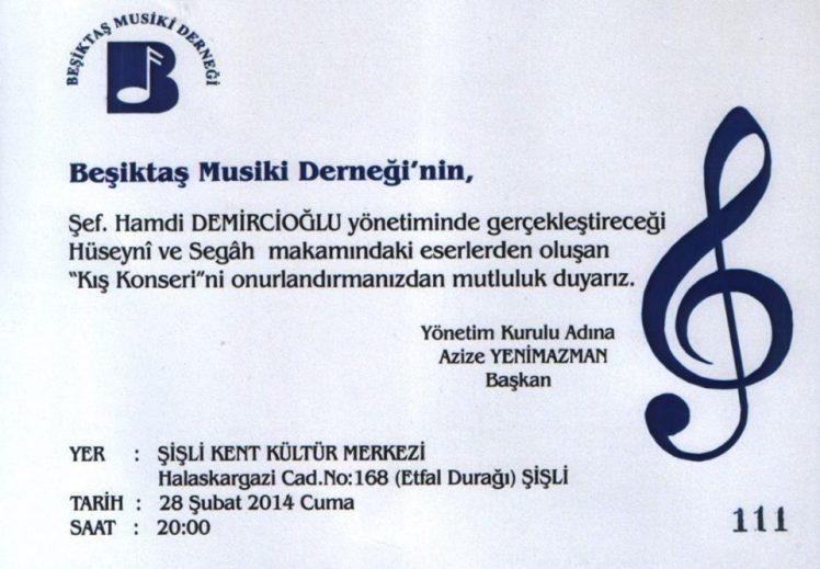 beşiktaş musiki derneği kış konseri