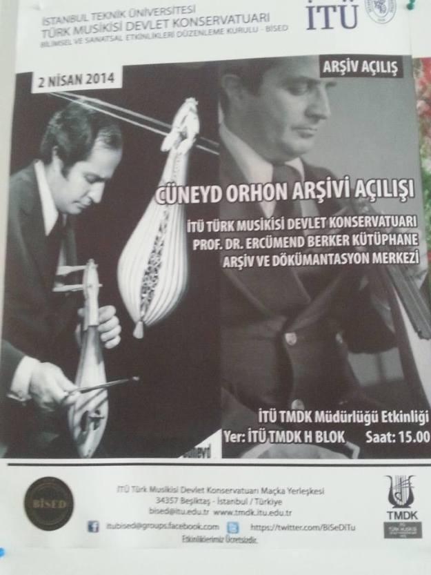 cüneyd orhon arşiv konseri 2 nisan