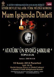 izmir devlet klasik türk müziği topluluğu 10 kasım konseri